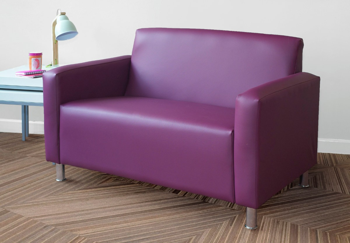 Lister sofas armchair faux leather for Faux leather sofa seat covers