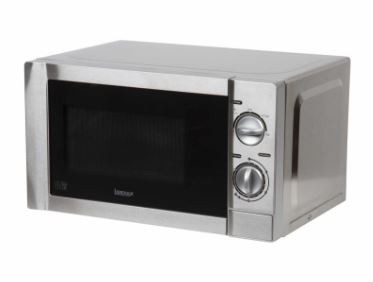 20 Litre 800W Manual Microwave - Stainless Steel