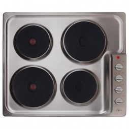 4 Ring Electric Hob - Stainless Steel